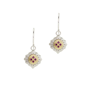 Ruby East and West Earrings