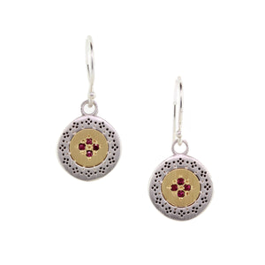Ruby Four Star Harmony Earrings | Art + Soul Gallery
