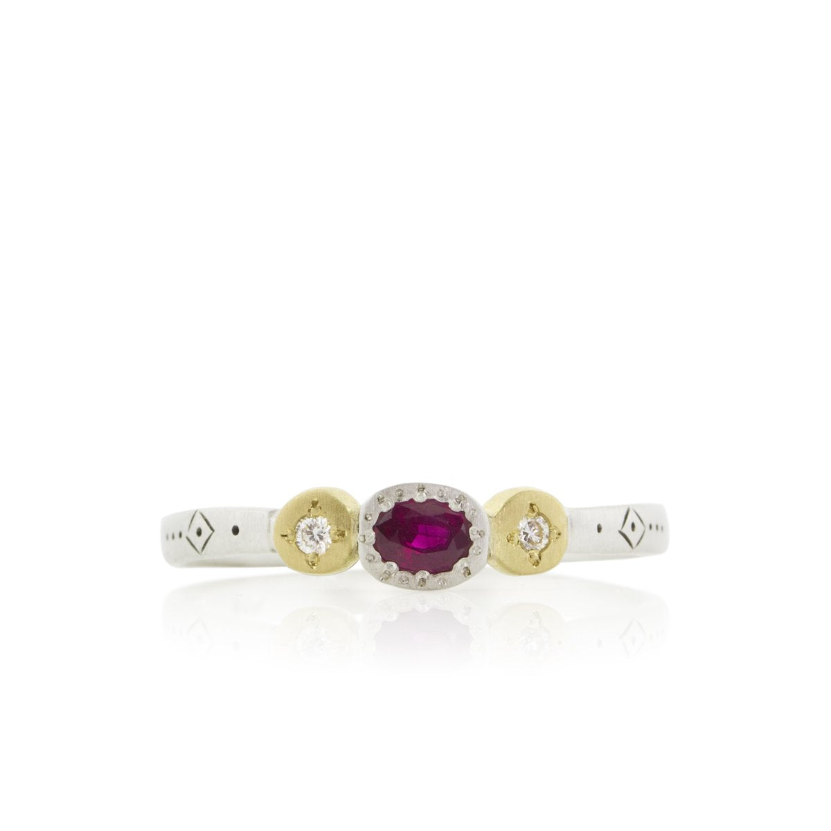 Ruby Harmony Oval and Round Charm Ring | Art + Soul Gallery