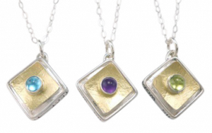 "Protect This Woman Square ""Frame"" Pendant 