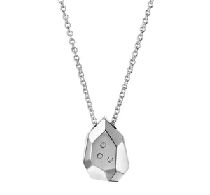 Mini Briolette Pendant with White Diamonds | Art + Soul Gallery