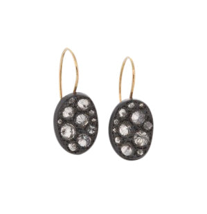 Concave Oval Drop Earrings | Art + Soul Gallery