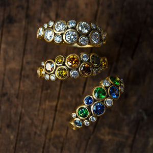 Sapphire, Diamond, and Gold Ring | Art + Soul Gallery