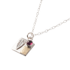 Square Leaf Protect This Woman Necklace