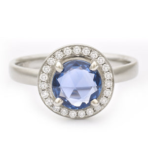 Blue Sapphire Rose Cut Ring | Art + Soul Gallery