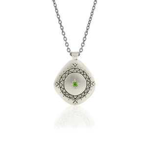Tsavorite Ring of Hope Pendant | Art + Soul Gallery