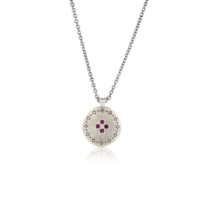 Ruby Nostalgia Four Star Pendant