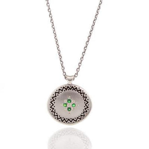 Emerald Four Star Memories Pendant