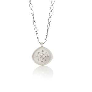 Diamond Four Star Silver Lights Pendant