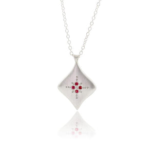 Ruby Silver Nights Pendant