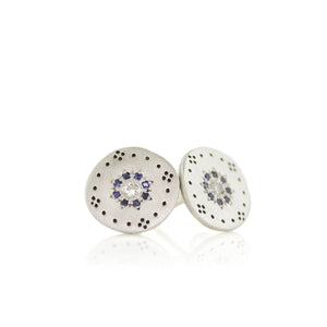 Sapphire Cluster Studs
