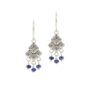 Diamond and Sapphire Mosaic Earrings