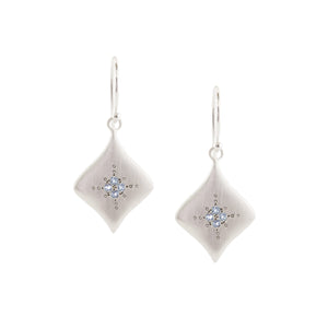 Silver Night Aquamarine Earrings | Art + Soul Gallery