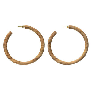 Arlie Maxi Wood Hoop Earrings | Art + Soul Gallery