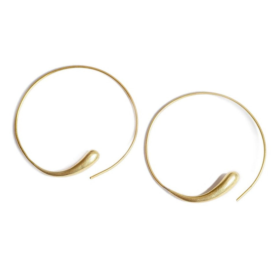 Gold Dash Hoops | Art + Soul Gallery