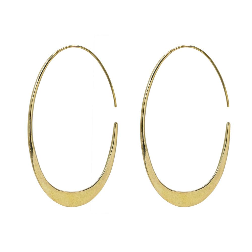 Gold Mezi Tapered Hoops | Art + Soul Gallery
