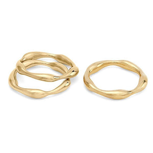Gold Moto Stacking Rings | Art + Soul Gallery