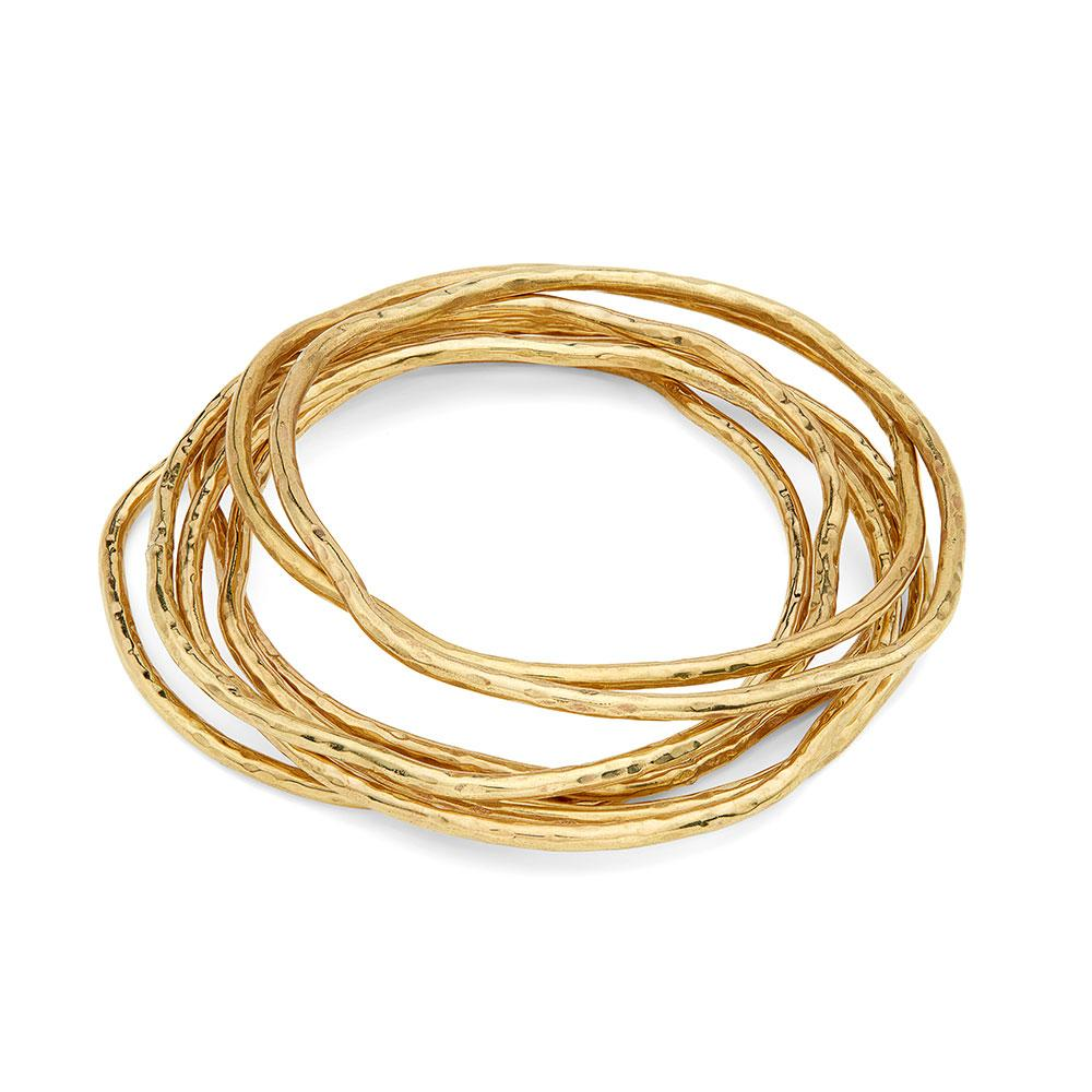 Gold Nyundo Stacking Bracelets | Art + Soul Gallery