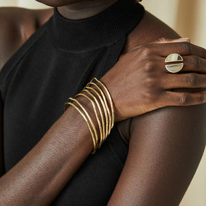 Gold Nyundo Stacking Bracelets