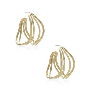 Gold Wavy Strand Hoops | Art + Soul Gallery