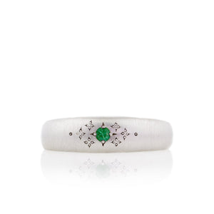 Emerald Tapered Moon Band