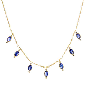 Tanzanite Fringe Necklace | Art + Soul Gallery