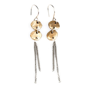 Bronze Double Drop Earring | Art + Soul Gallery