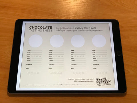 Chocotastery - Chocolate Tasting Sheet