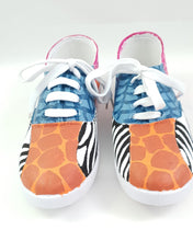Load image into Gallery viewer, Into The Wild, Giraffe- Adult Sneakers