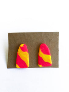 Lollies: pink and Yellow- Earrings