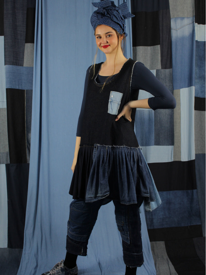 Act Two Raw Denim Swing Tunic 2