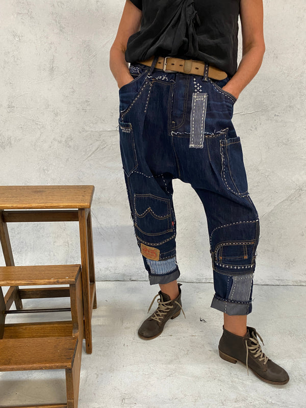 Act Two Reworked Handcrafted Patchwork Jeans 3 [38inch/96cm]