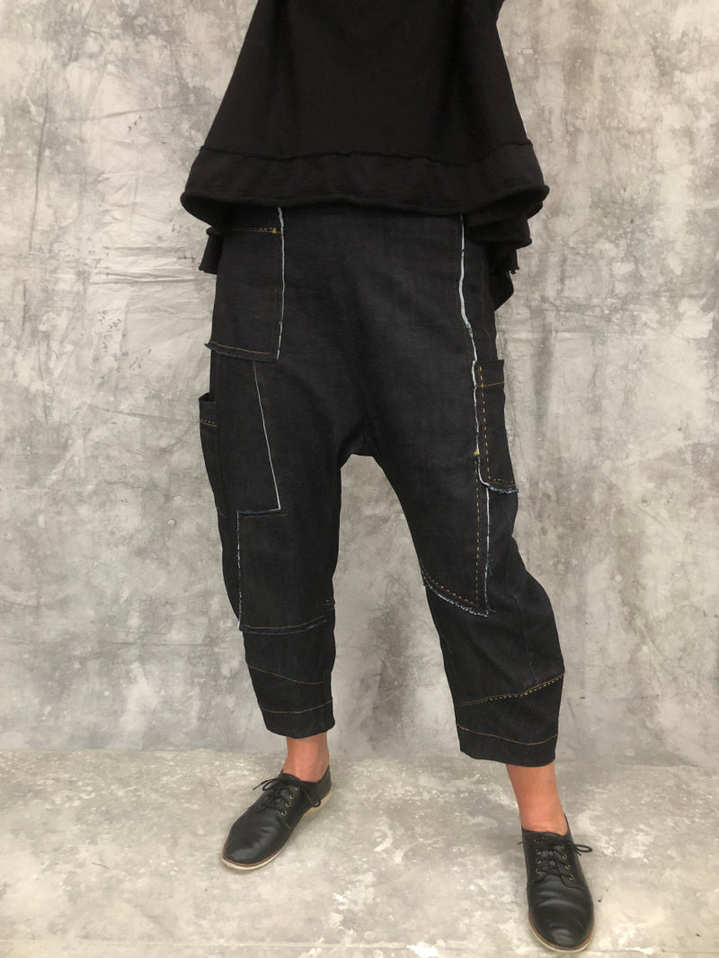 Drop Crotch  Denim Pant