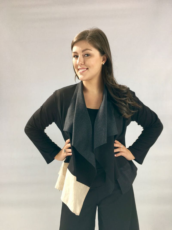 Celeste Cardi in Black and Grey