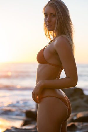 Monte Carlo String in Rust by The Hessian Collection - Cheeky String Orange Bikini