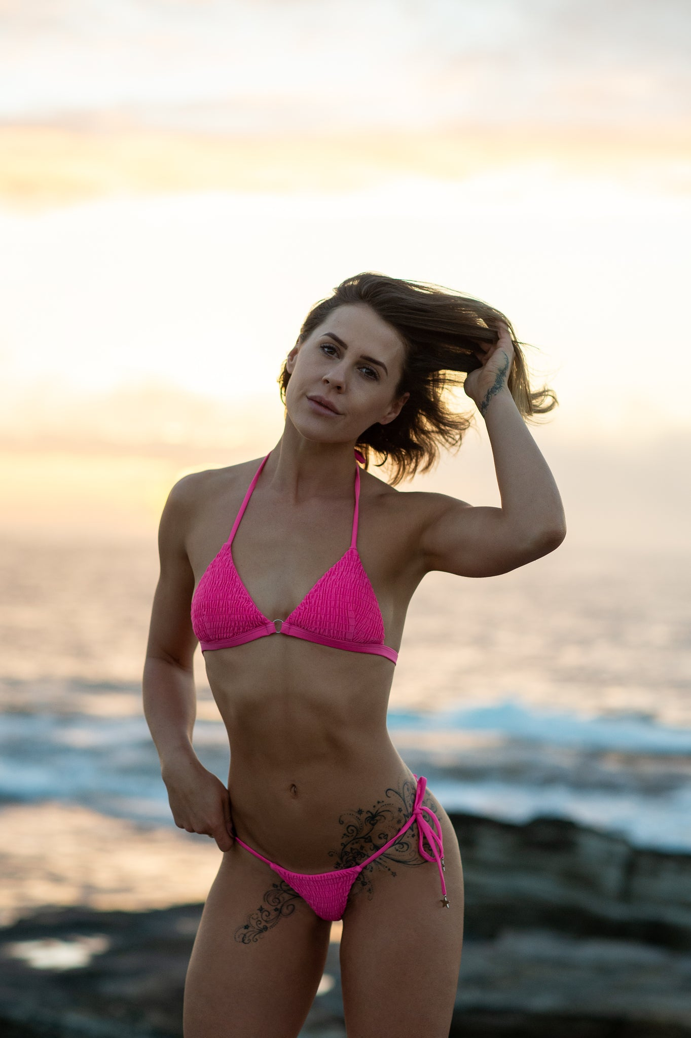 Los Angeles String in Hot Pink by The Hessian Collection - A Cheeky Hot Bikini String Bikini