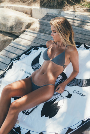 100% terry cotton circle beach towel