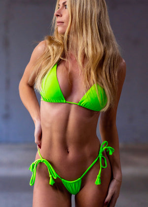 Miami String Top/ Neon Green