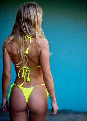 Miami String Top/ Neon Yellow