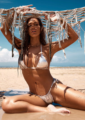 Miami String bikini - Metallic Silver