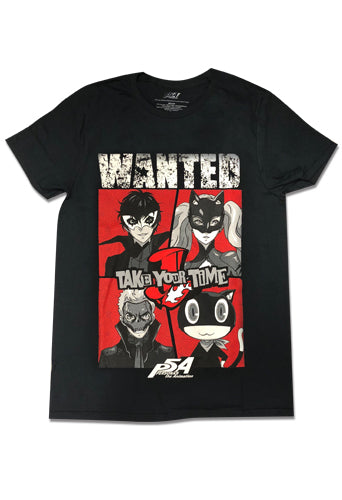 PERSONA 5 THE ANIMATION - WANTED/TAKE YOUR TIME GROUP T-SHIRT