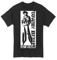 COWBOY BEBOP - SPIKE SPIEGEL BLACK AND WHITE ADULT SHIRT