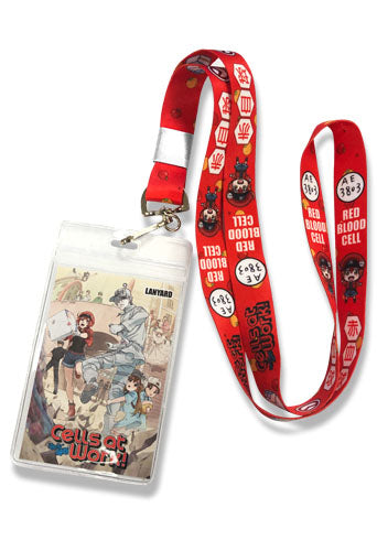 CELLS AT WORK - RED BLOOD CELLS LANYARD