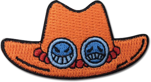 "ONE PIECE - ACE HAT PATCH 2"" x 1"""
