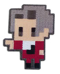 ACE ATTORNEY - MILES PIXEL ART PATCH