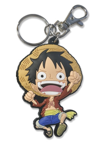 ONE PIECE - LUFFY PVC KEYCHAIN 2.5''
