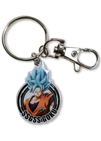 DRAGON BALL FIGHTERZ - GOKU BLUE METAL KEYCHAIN