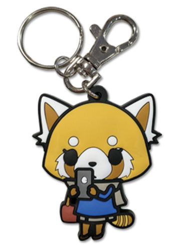 AGGRETSUKO - ON CELL PVC KEYCHAIN