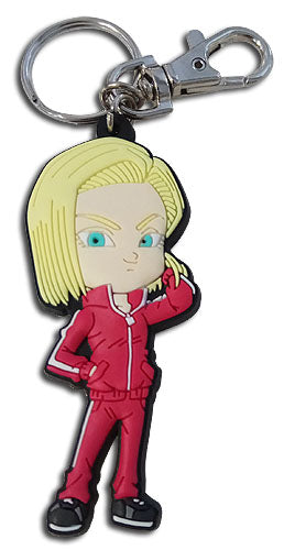 DRAGON BALL SUPER - SD ANDROID 18 PVC KEYCHAIN