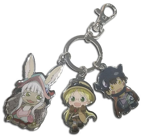 MADE IN ABYSS - TRIO METAL KEYCHAIN